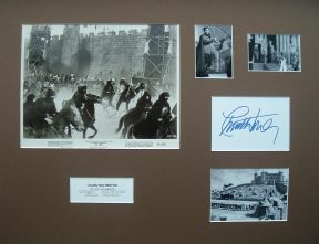 RTG-Charlton Heston Signed & Mounted 1961 Movie Still Photo Set - El Cid #2
